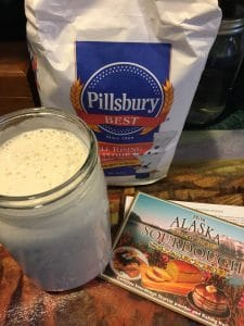 Feeding Old Fashion Sourdough Starter