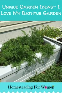 Unique Garden Ideas I love my bathtub garden
