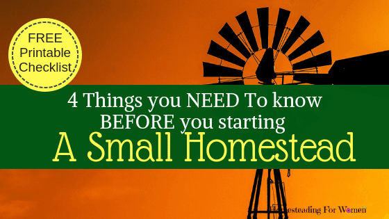 Free Printable Checklist things you Need to know before Starting a Small homestead