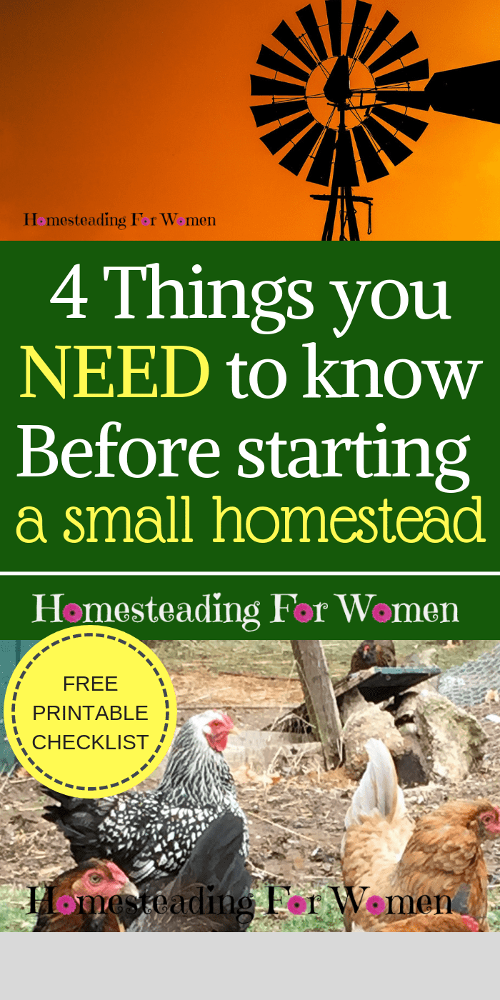 4 Things You MUST Know BEFORE Starting A Small Homestead
