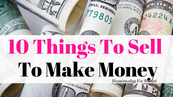 10 things to sell to make money homesteading for women