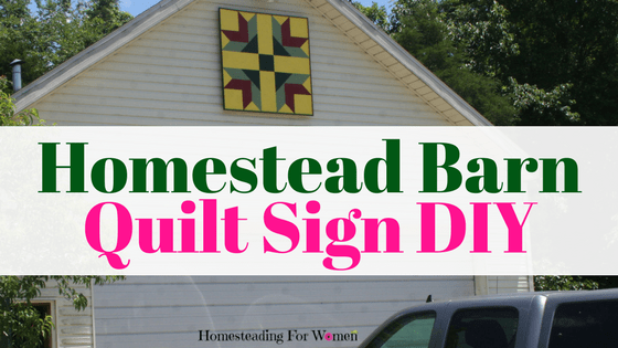 Homestead Barn Quilt Sign DIY