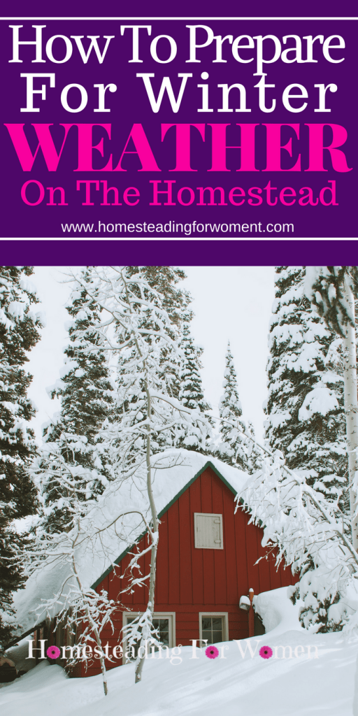 How to prepare for winter weather storm on the homestead