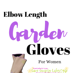 Purple Elbow Length Garden Gloves