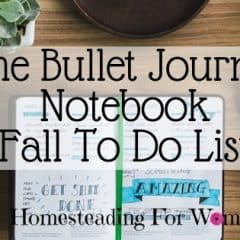 The Bullet Journal Notebook -Fall To Do List