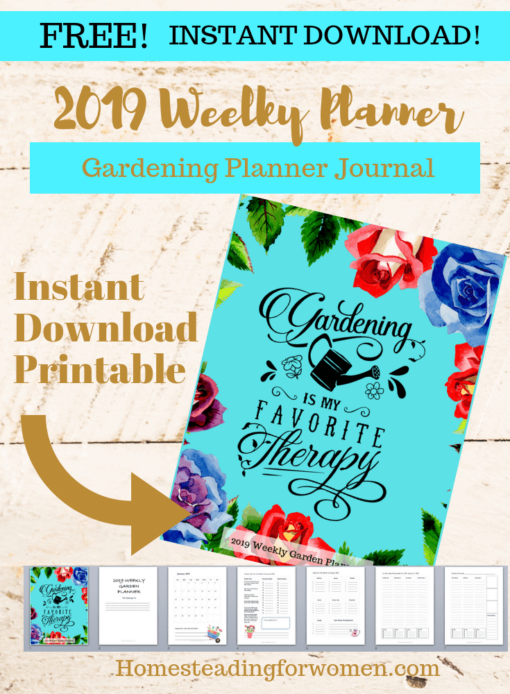 Printable 2019 Garden Weekly Planner Journal-min