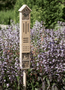 Insect hotel with stake