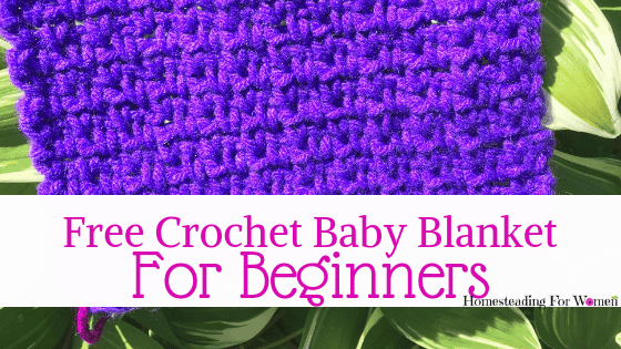 Easy Fast Free Crochet Baby Blanket Pattern For Beginners