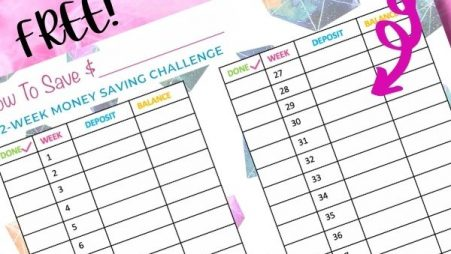 Free 52 Week Saving Money Planner Printable