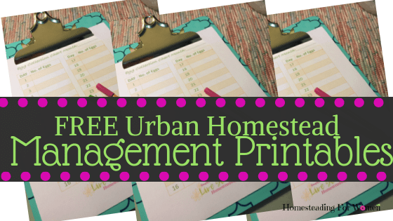 Urban Homestead Free Management Printables