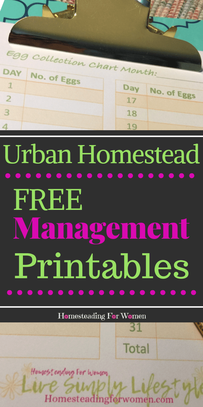 Free Urban Homestead Management Printables