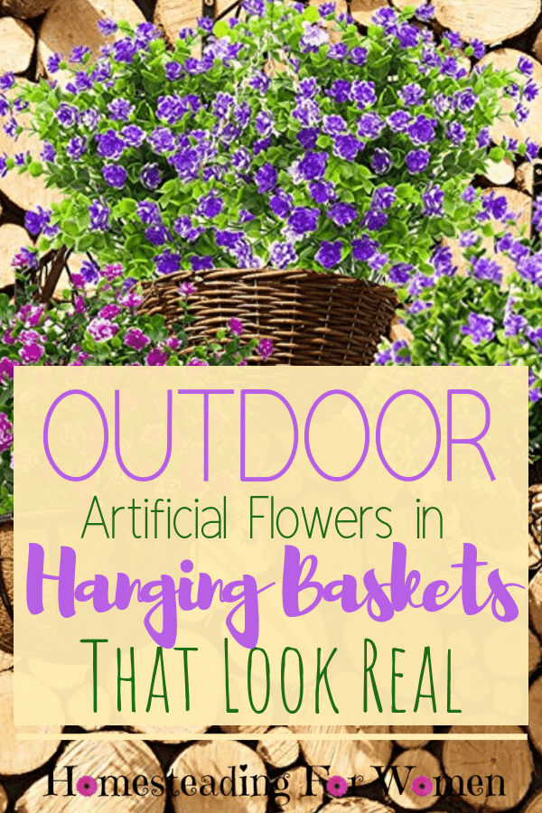 Outdoor Artificial Flowers in Hanging Baskets That Look Real (1)-min