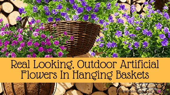 Outdoor Artificial Flowers in Hanging Baskets That Look Real