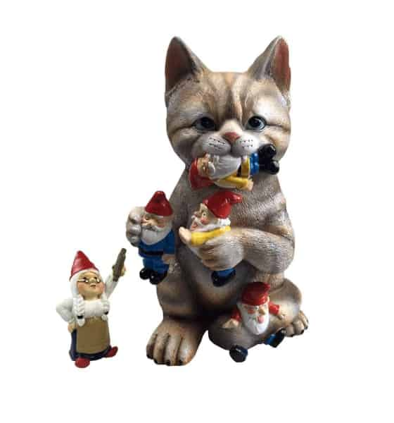 Cat Gnome Figure Gift for gardeners who have everything