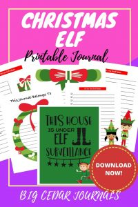 Christmas Elf printableJournal-min