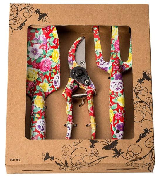 Floral Print Garden Set gift for the gardener that has everything