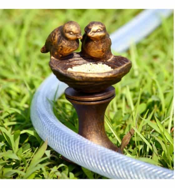 Lovebird hose guard gift for gardeners who have everything