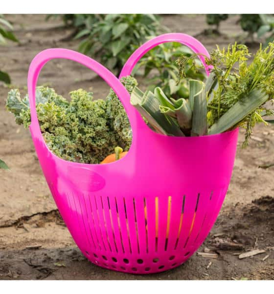 Pink Garden Basket Colander Gift For Gardener that has everything