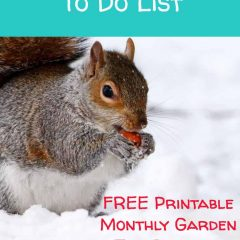 January Garden To Do List Free Planner