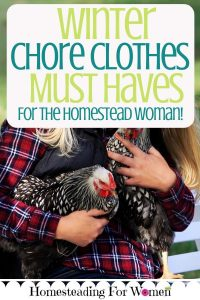 Winter Chore Clothes Must Haves Essentials