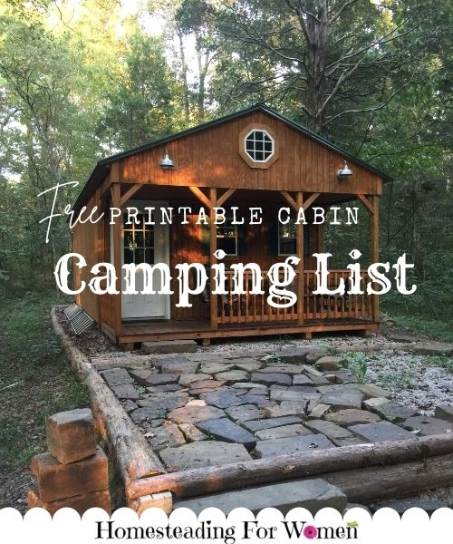 Free Printable Cabin Camping List