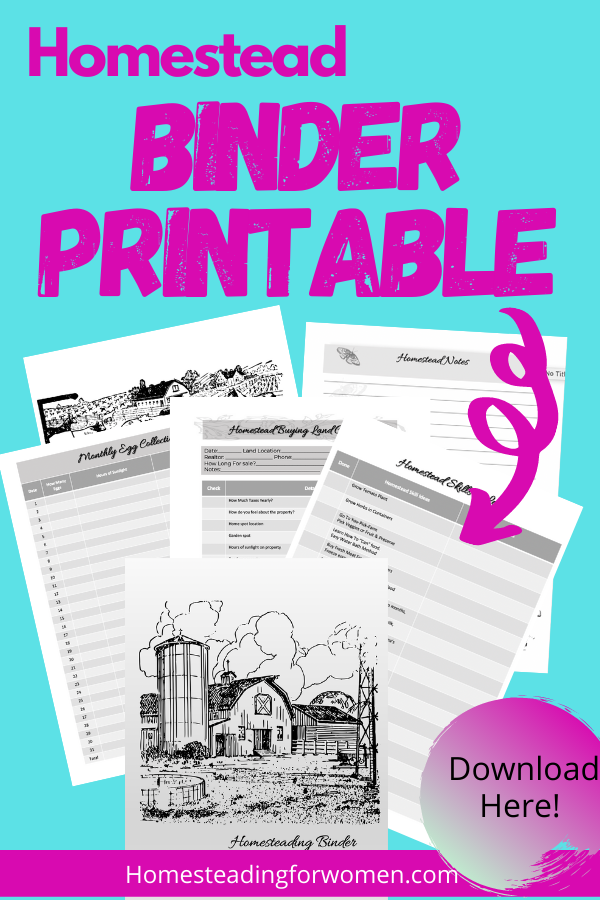 Homestead Binder Printable