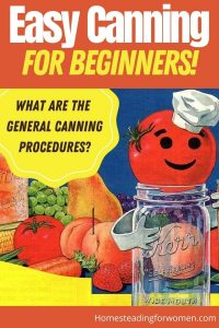 Easy Canning For beginners