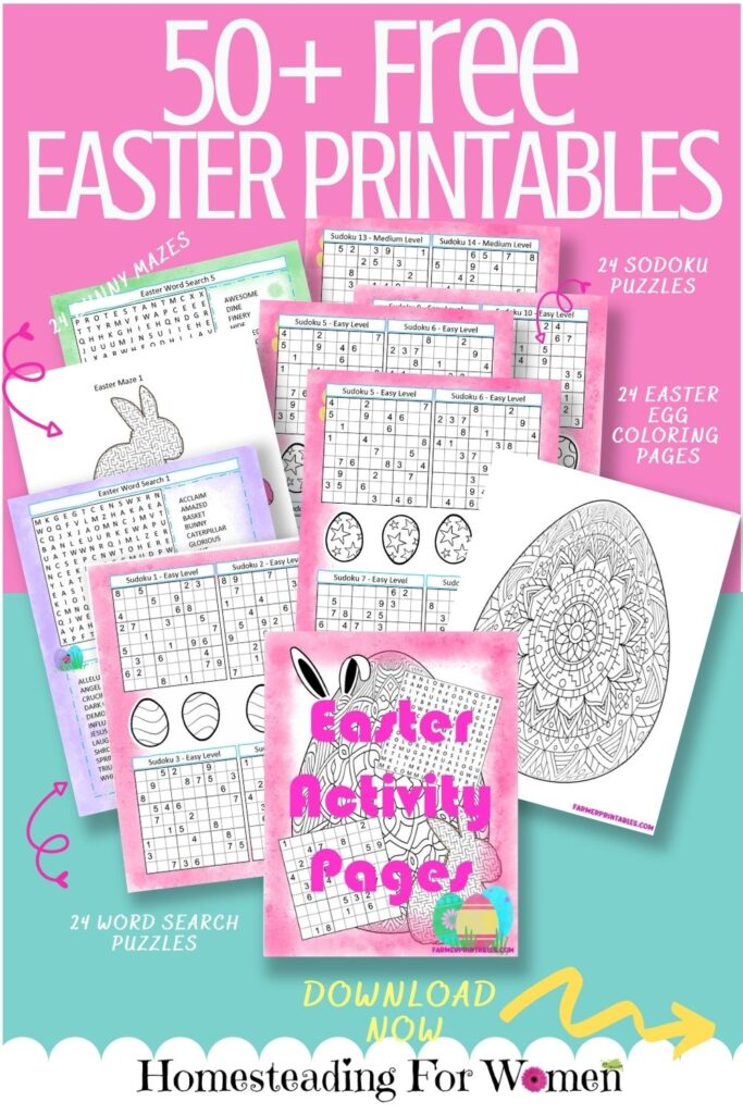 50+ Free Easter Printables Kids Activity pages Sign up