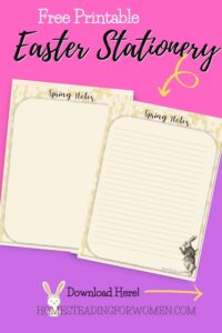 Free Printable Easter Stationery Instant Download
